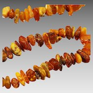 Vintage USSR time natural Baltic amber necklace bead Cognac butterscotch color