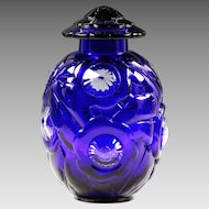 "11""H Limited Edition French Baccarat Royal blue crystal Urn"