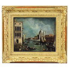Antique 18thC old master oil canvas painting Italian