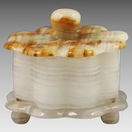 Flower shaped white Onyx Box