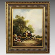 Late 19th century British oil on canvas Painting
