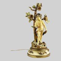 Art Nouveau figurine table lamp Collection Francoise