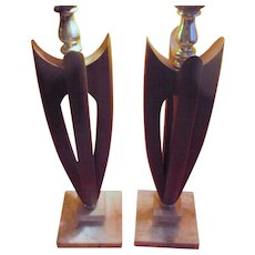 Danish Modern Table Lamps Pair