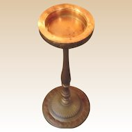 Vintage Art Pottery Deco Plant Stand With a CHASE Copper Tray-..Early 1900,s