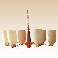 Vintage Danish Modern Ceiling Fixture-5 Light