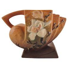 Roseville Pottery Magnolia Brown Cornucopia No. 182-5