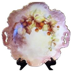 PORCELAIN Tray /Plaque-Circa 1890's Signed & Hand Painted