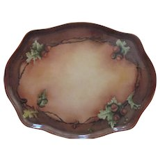 Limoges Platter  Large  Porcelain Hand  Painted Circa 1891