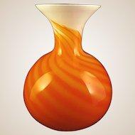 Large-Vase- Murano  -Art Glass-Mid Century- By CARLO MORETTI