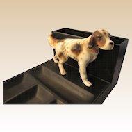 Porcelain Hunting Dog Dresser Tray Vintage