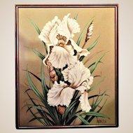 HUGE Oil Painting- Vintage- Knife & Palette/Brush- Artist Signed,