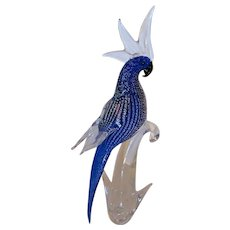 Large Sculpture   Bird of Paradise-  Murano Italy- Mid Century.