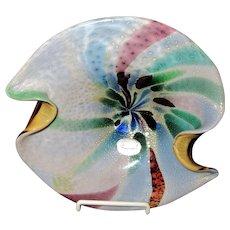 Large-Murano Art Glass Bowl-Mid Century