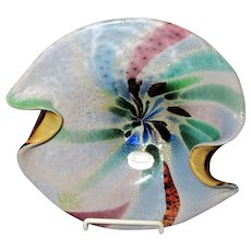 Large-Murano Art Glass Bowl-Mid Century