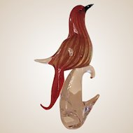 Sculpture-Bird of Paradise -Murano-Art Glass -Mid Century Modern