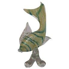 Large Sculpture-Tropical Fish-Murano-Mid Century