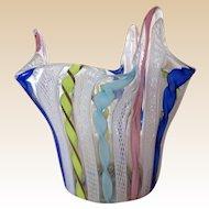Fazzoletto Vase-Murano Art Glass- Mid Century