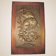 PAIR  OF LARGEBruce Fox Studio Hand-Wrought Copper Pair of Regal Ibis