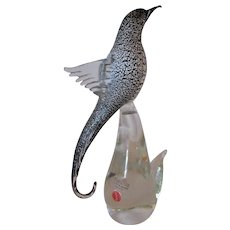 Sculpture-Bird of Paradise -Murano-Art Glass -Mid Century Modern