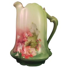 Pitcher-Porcelain-late 19th.century-hand painted