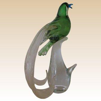 "Sculpture-Murano -""Exotic Birds of Paradise- Formia"
