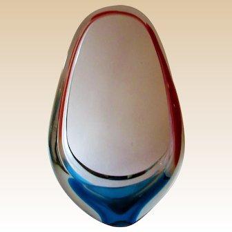 Sculpture-Basket Vase- Murano-Mid Century Modern
