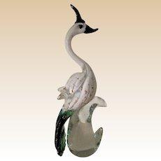 Sculpture-Murano-15.75 in.- Exotic Bird-Mid Century- Art glass