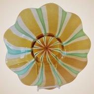 Huge Center Bowl-Murano- Canne / Ribbon-Art Glass