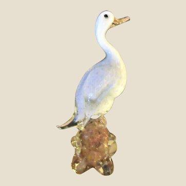 Sculpture-Duck- Fratelli. Toso- Murano-Art Glass- Mid Century Modern