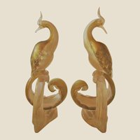 Large Sculptures--Barbini Birds of Paradise- Murano-Mid Century Modern