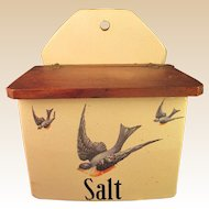 Vintage Salt Box - American Bluebird