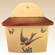 Vintage Salt Box - American Bluebird