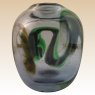 Hand Blown Art Glass Vase Signed by Known Artist