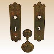 Vintage Door Hardware-Early 1900.s- U.S.A-.Complete Locksets