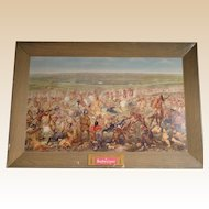 Budweiser Custer's Last Fight Self-Framed Print