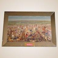 Budweiser Custer's Last Fight Self-Framed Print
