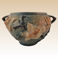 Roseville Pottery Magnolia Blue Jardinière No. 665-4