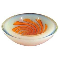 Large-Geode Bowl-Murano-Opalino Art Glass