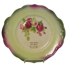 Vintage Advertising Plate Early 1900,s Wausaukee Wisconsin