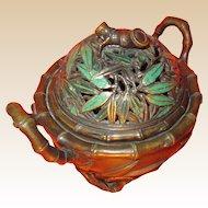 Vintage Oriental Bronze Incense Burner