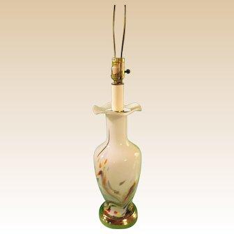 Table Lamp Hand Blown Art Glass Murano Mid Century Modern