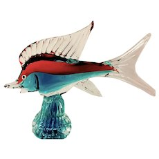 Murano Marlin Sculpture-Mid Century-Modern.