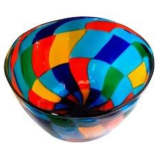 Artisan Signed PEZZATO GLASS Bowl- Murano-Mid Century-Modern