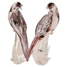 "FORMIA Diamond Dove Sculptures-""Exotic Birds Of The World"" MCM."