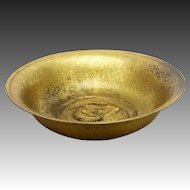 Antique Tiffany Studios Bronze Dragonfly Bowl