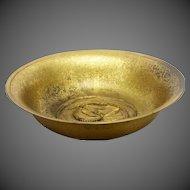 Antique Tiffany Studios Bronze Dragonfly Bowl