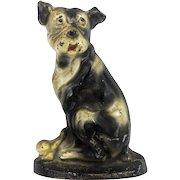 Antique Cast Iron Dog Doorstop ca1900