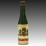 Antique German Dresden Champagne Bottle Patriotic Party Pull Toy Ornament ca1910