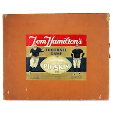 Vintage Tom Hamilton's Pigskin Football Board Game ca1935