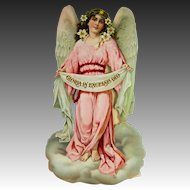 Antique Large German Die Cut Christmas Angel ca1910